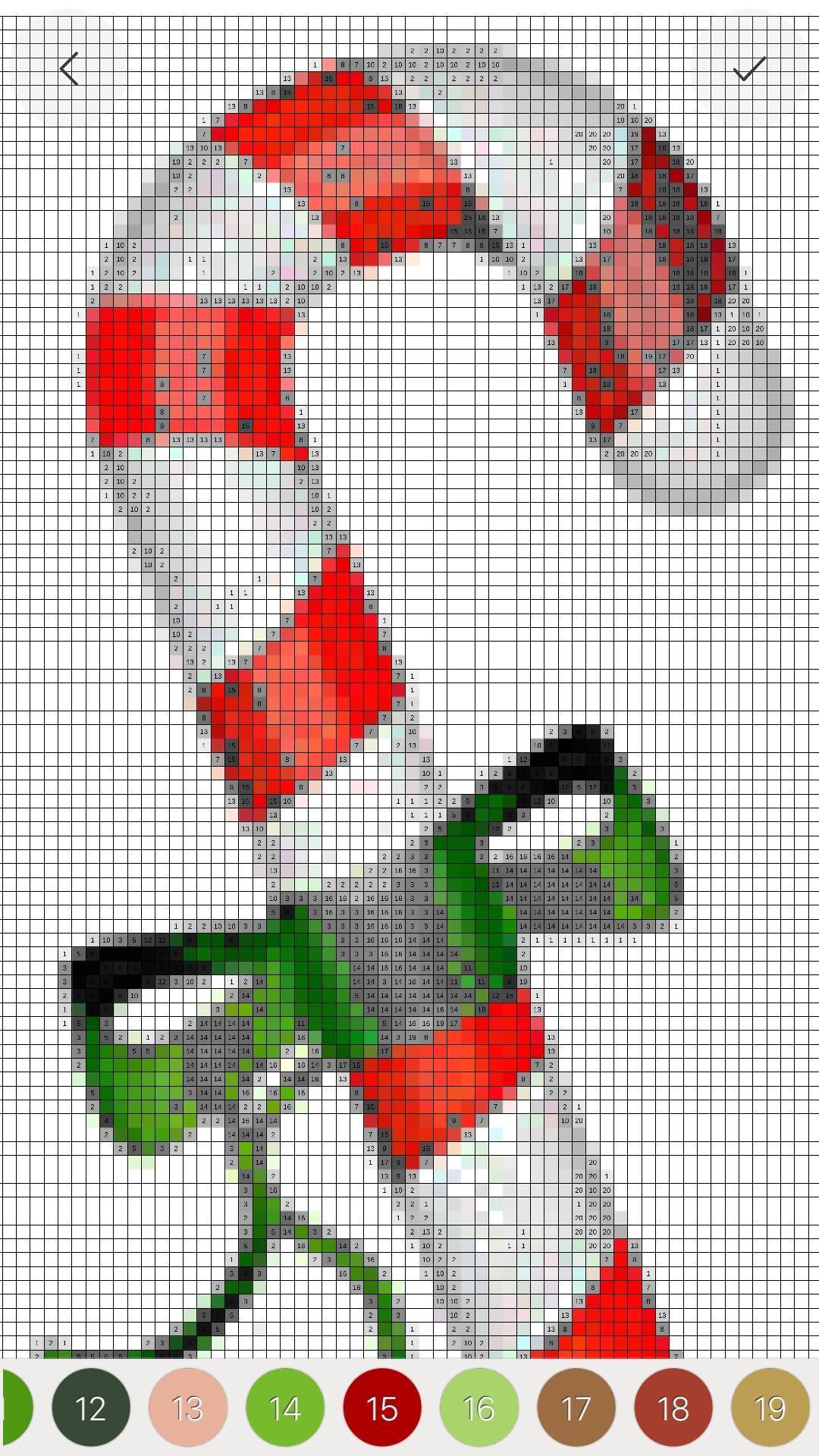 Android Için Christmas Pixel Art Adult Santa Color By Number pour Pixel Art De Noël