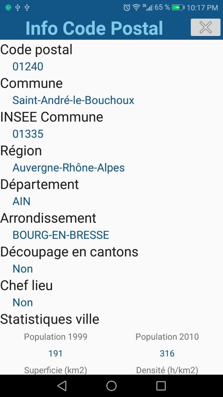 Android Için Code Postal France - Apk'yı İndir à Decoupage Region France