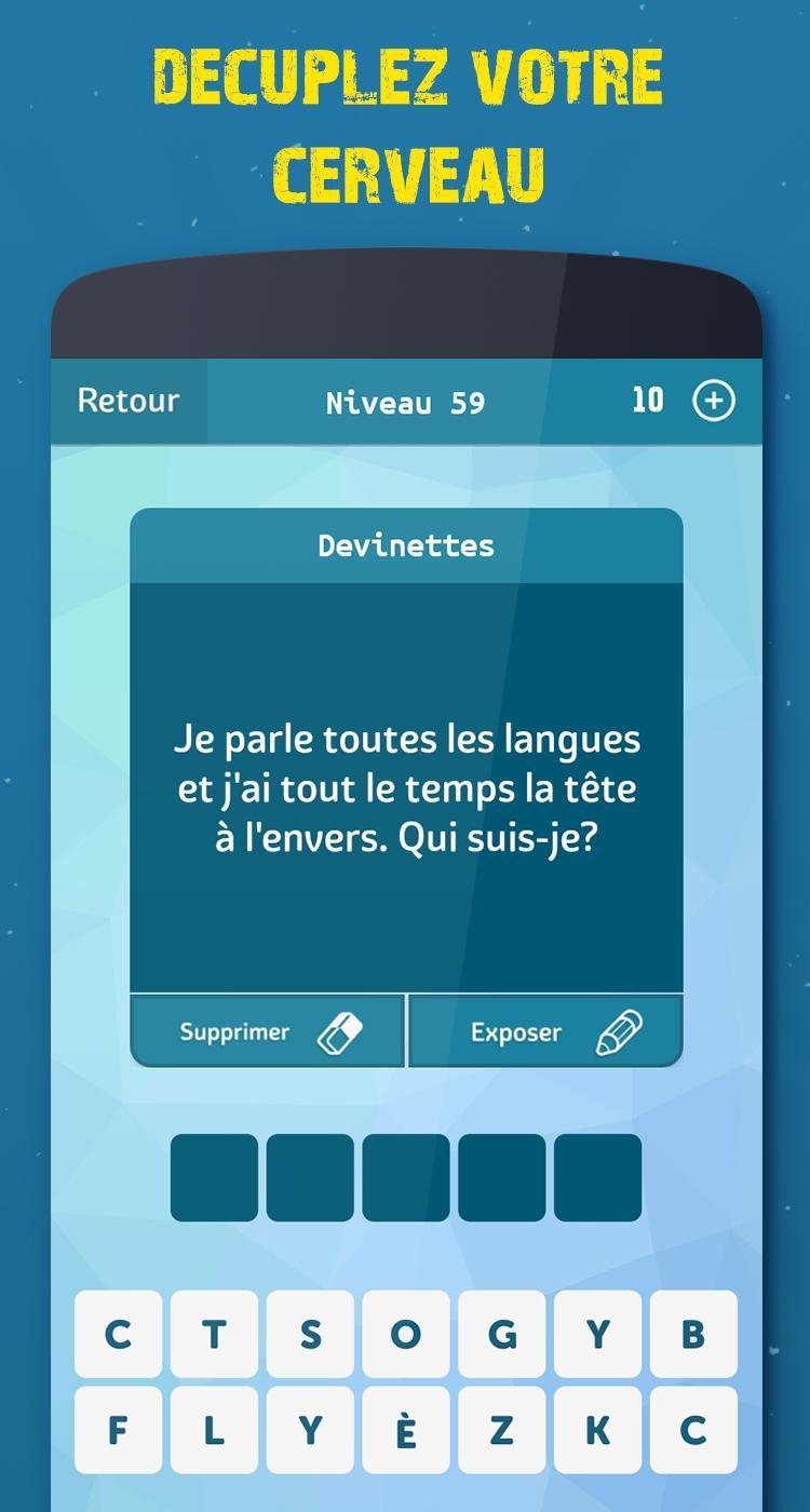 Android Için Mots Croisés - Apk'yı İndir destiné Mots Fleches Niveau 1