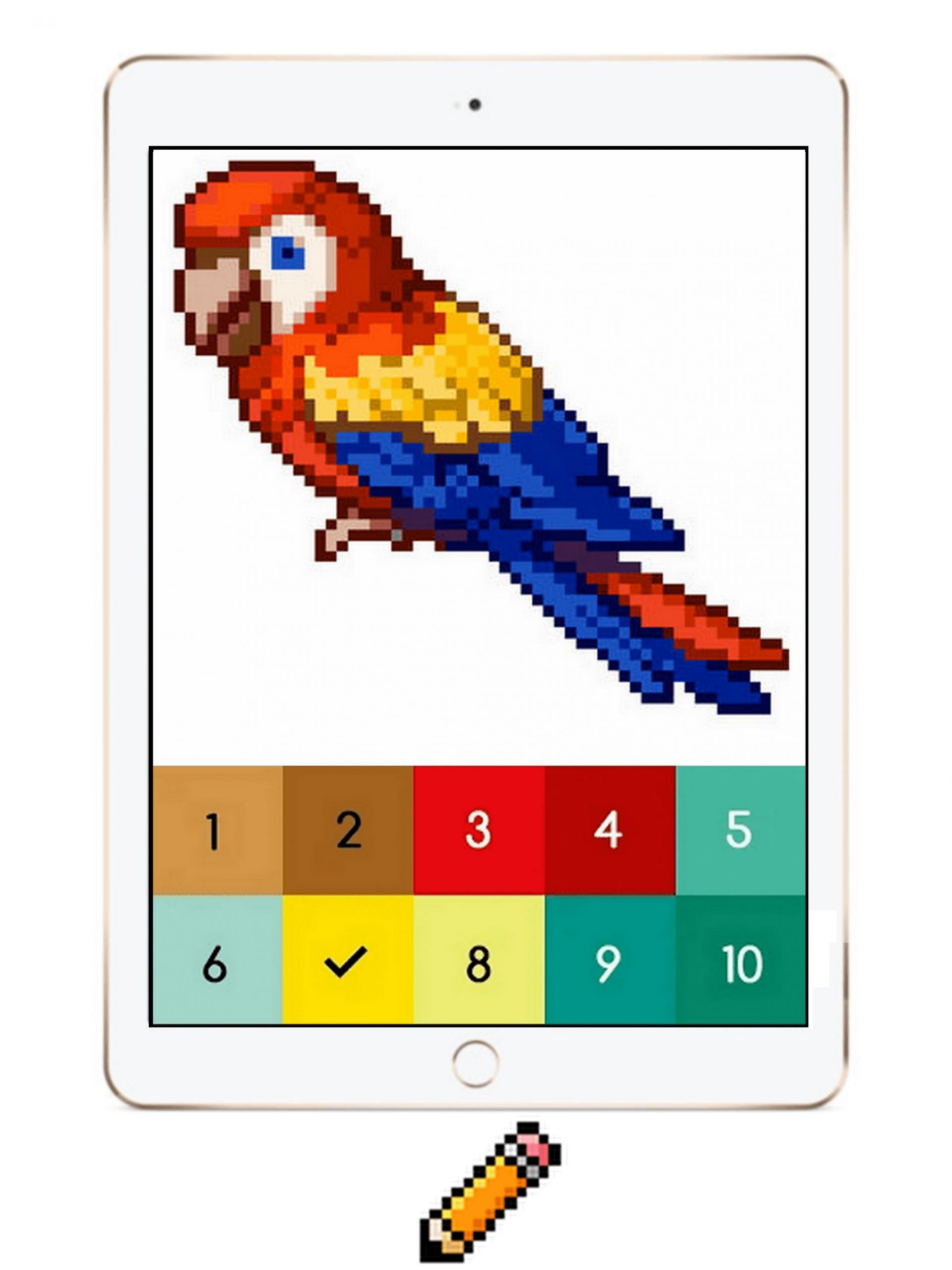Android Için Pixi Color : Pixel Art Coloring Book By Number avec Pixel A Colorier