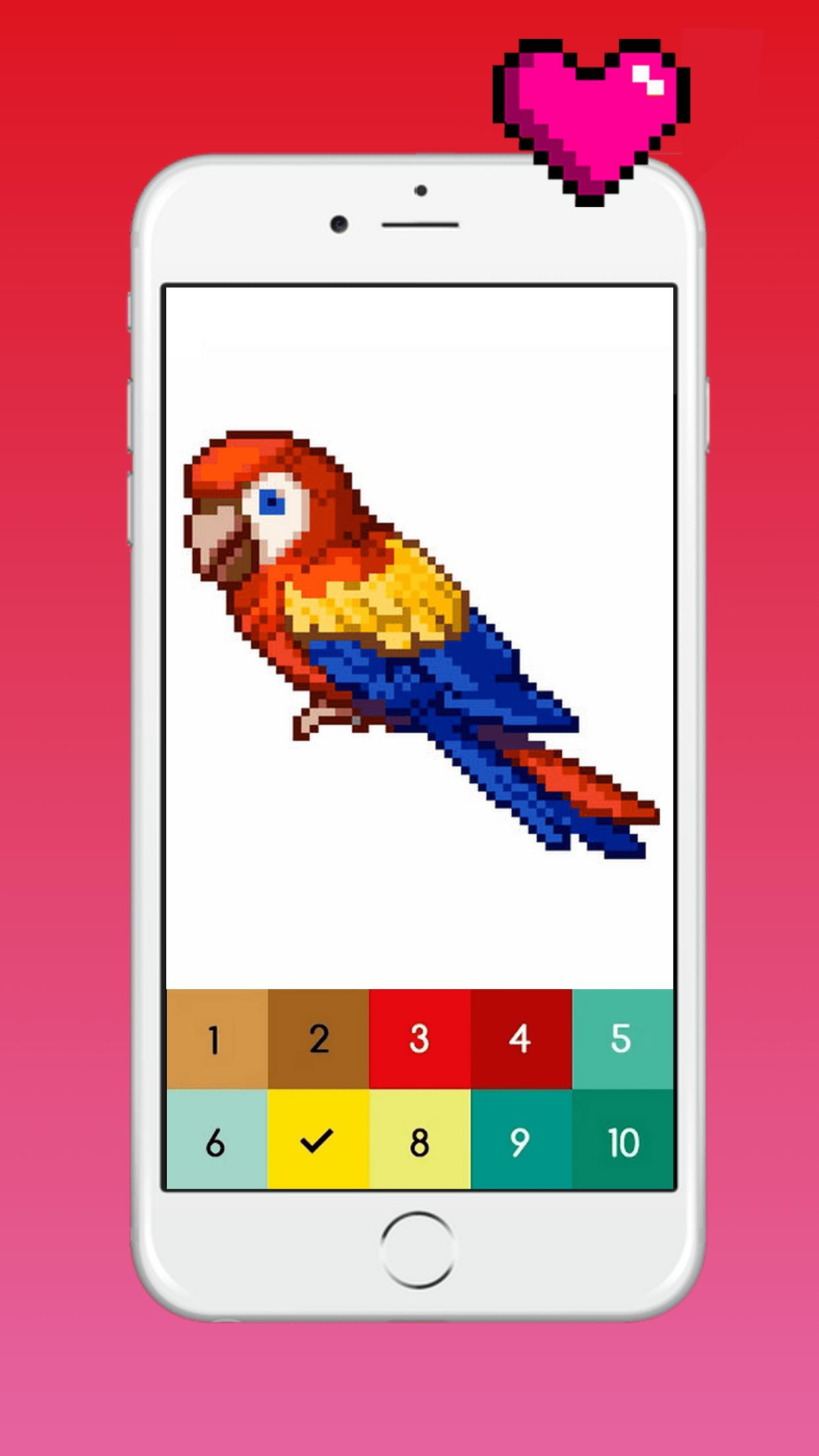 Android Için Pixi Color : Pixel Art Coloring Book By Number pour Pixel A Colorier