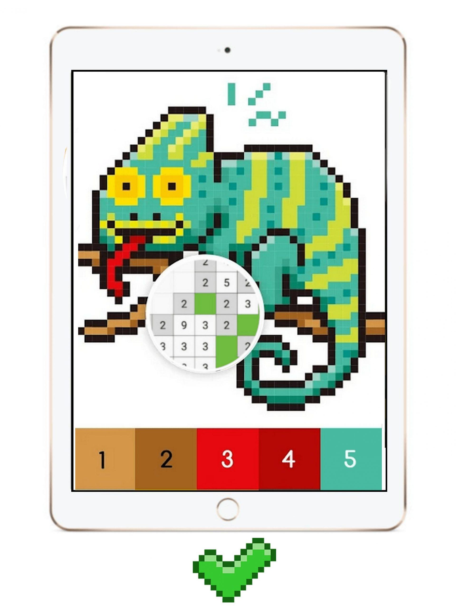 Android Için Pixi Color : Pixel Art Coloring Book By Number tout Pixel A Colorier