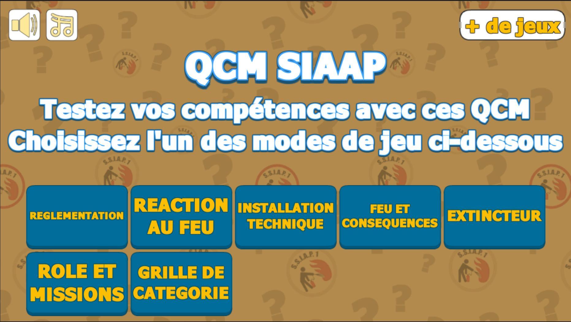Android Için Qcm Ssiap 1 - 300 Questions - Apk'yı İndir dedans Jeux Avec Des Questions