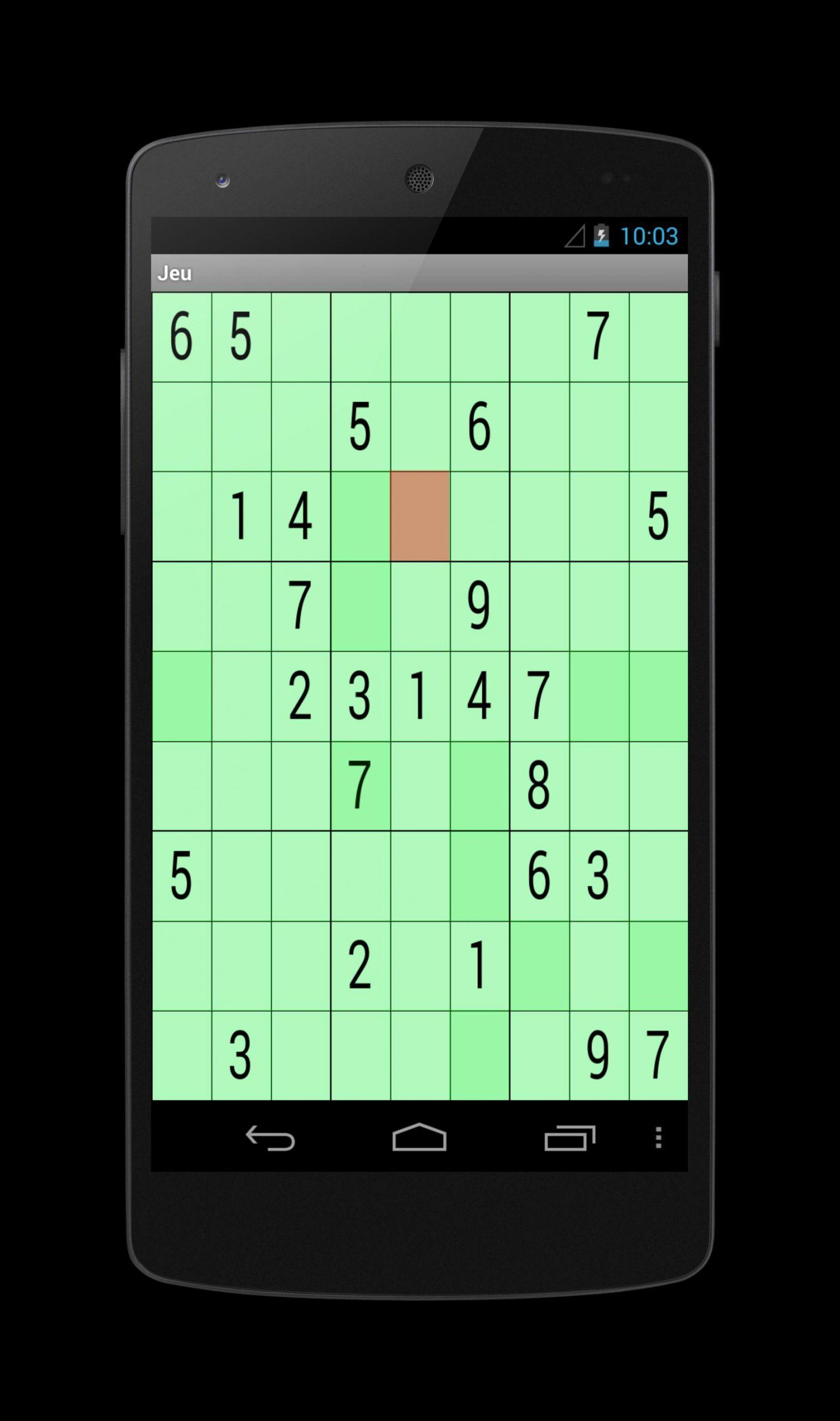 Android Için Sudoku 9X9 - Apk'yı İndir destiné Jeu Le Sudoku