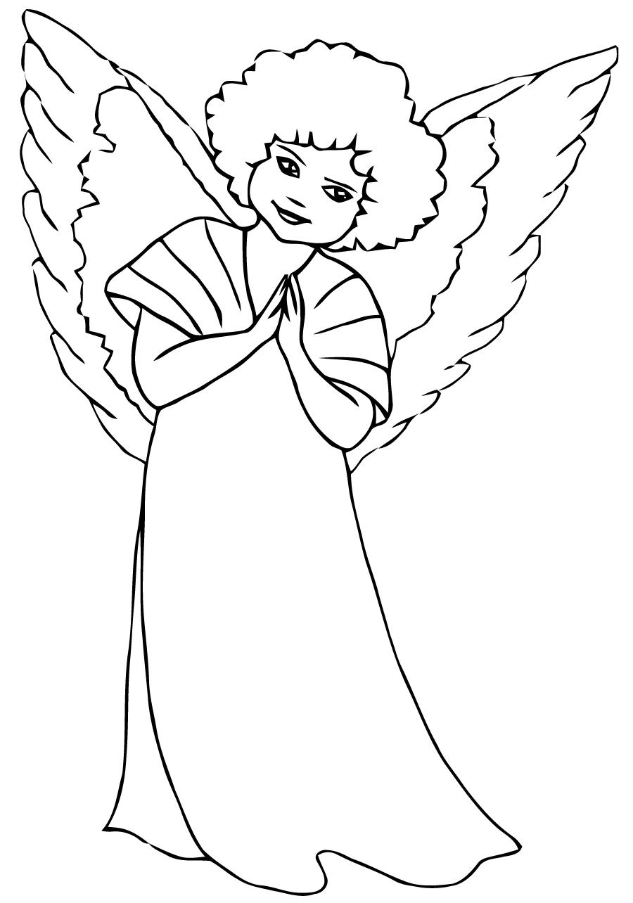 Ange #177 (Personnages) – Coloriages À Imprimer dedans Ange A Colorier