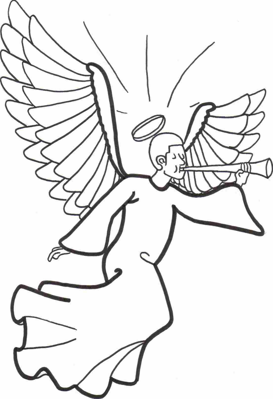 Ange #78 (Personnages) – Coloriages À Imprimer avec Ange A Colorier