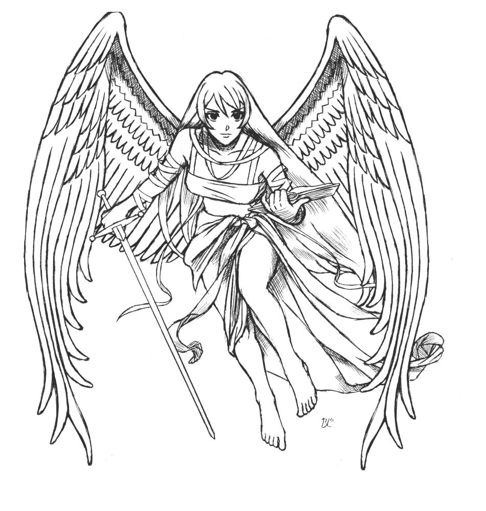Ange #82 (Personnages) – Coloriages À Imprimer tout Ange A Colorier