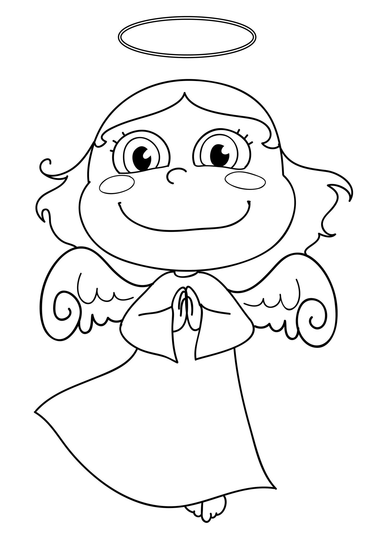 Angel Coloring Page | Coloriage, Coloriage Enfant Et Dessin pour Ange A Colorier