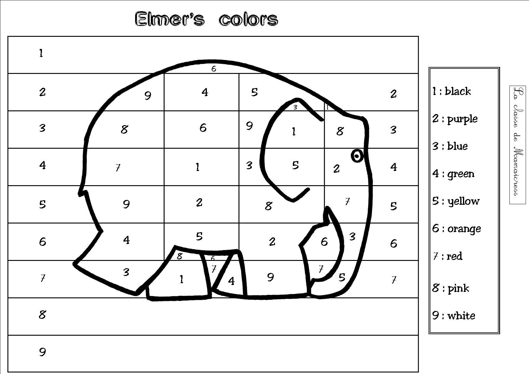 Anglais : Les Couleurs - La Classe De Mamaicress serapportantà Coloriage Magique Alphabet Cp