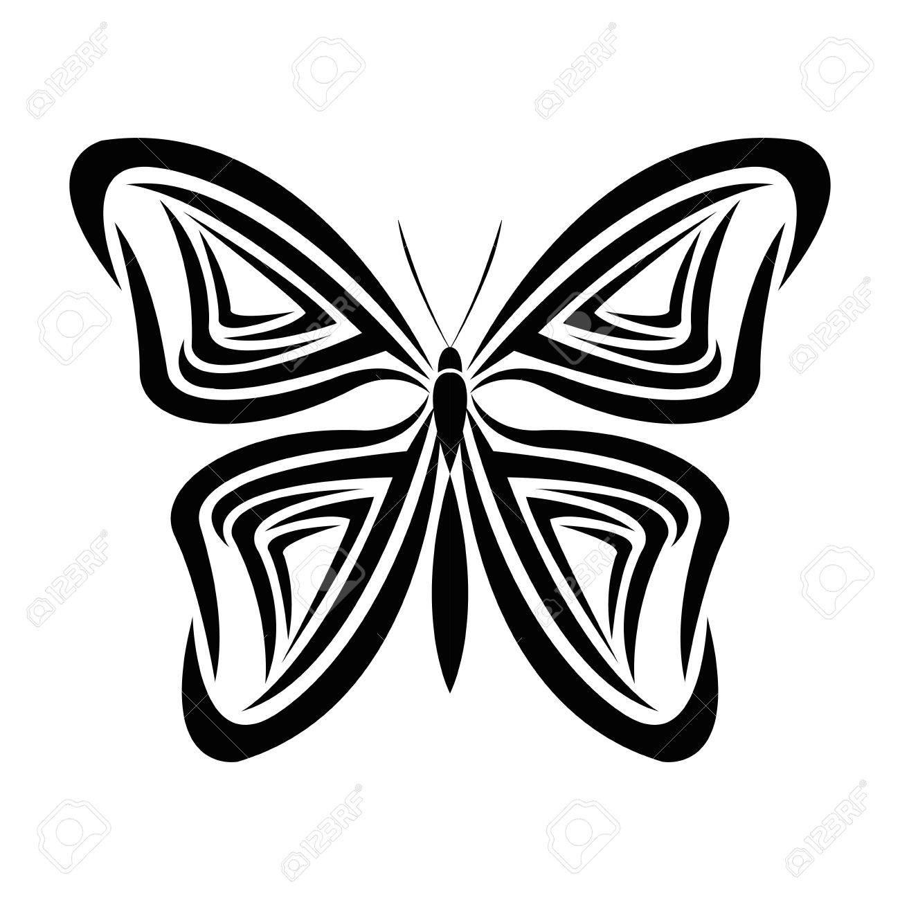 Animal De Uage Insectes Papillon Dessiner Une Icône Abstraite. Design  Plat Et Isolé. Illustration Vectorielle avec Papillon À Dessiner