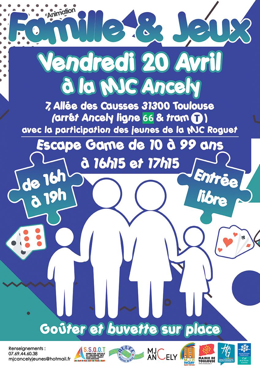 Animation Familles Et Jeux Le 20 Avril À La Mjc Ancely - Mjc avec Jeux En Ligne 2 Ans