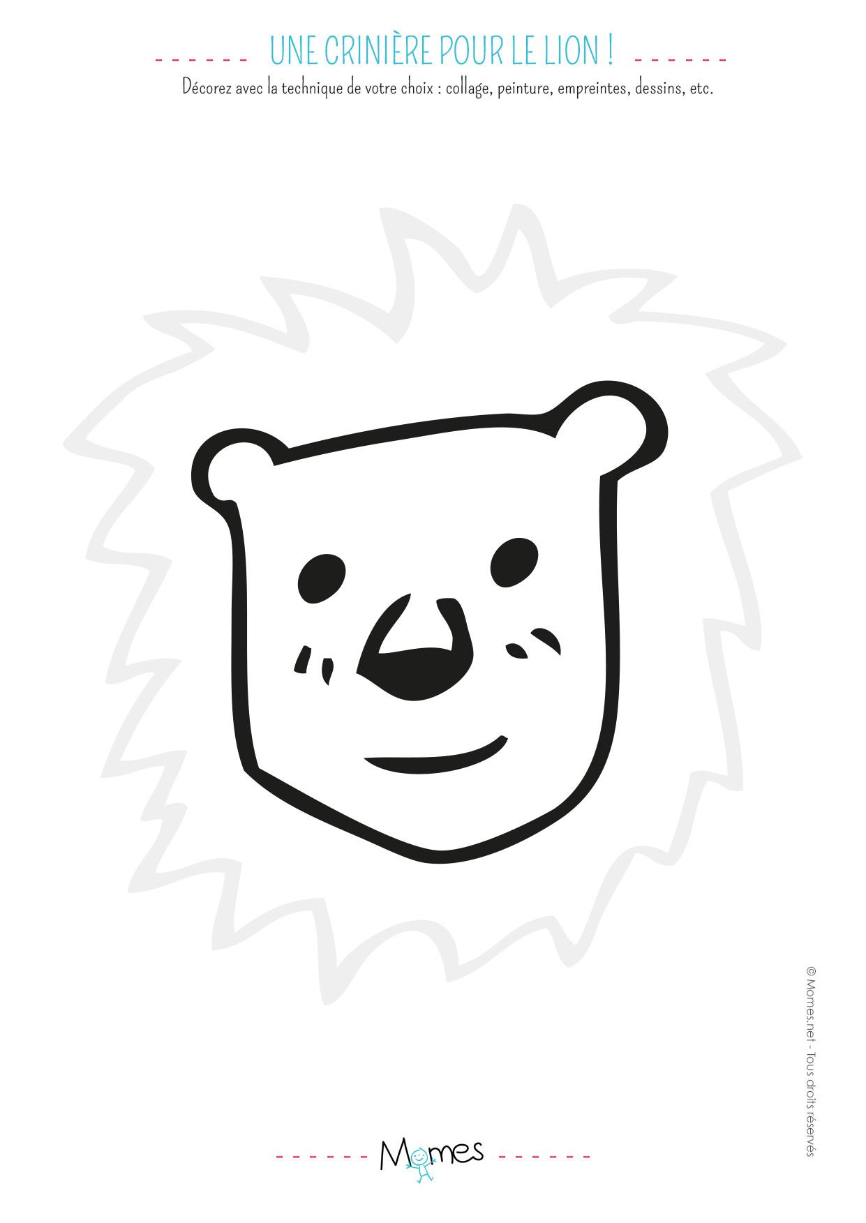 Animaux À Décorer - Momes destiné Découpage Collage Maternelle À Imprimer