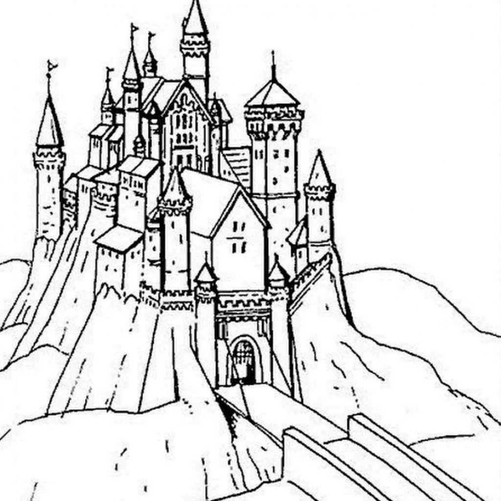 Animaux Coloriage Chateau De Princesse Coloriage Chateau De dedans Dessin Chateau Princesse