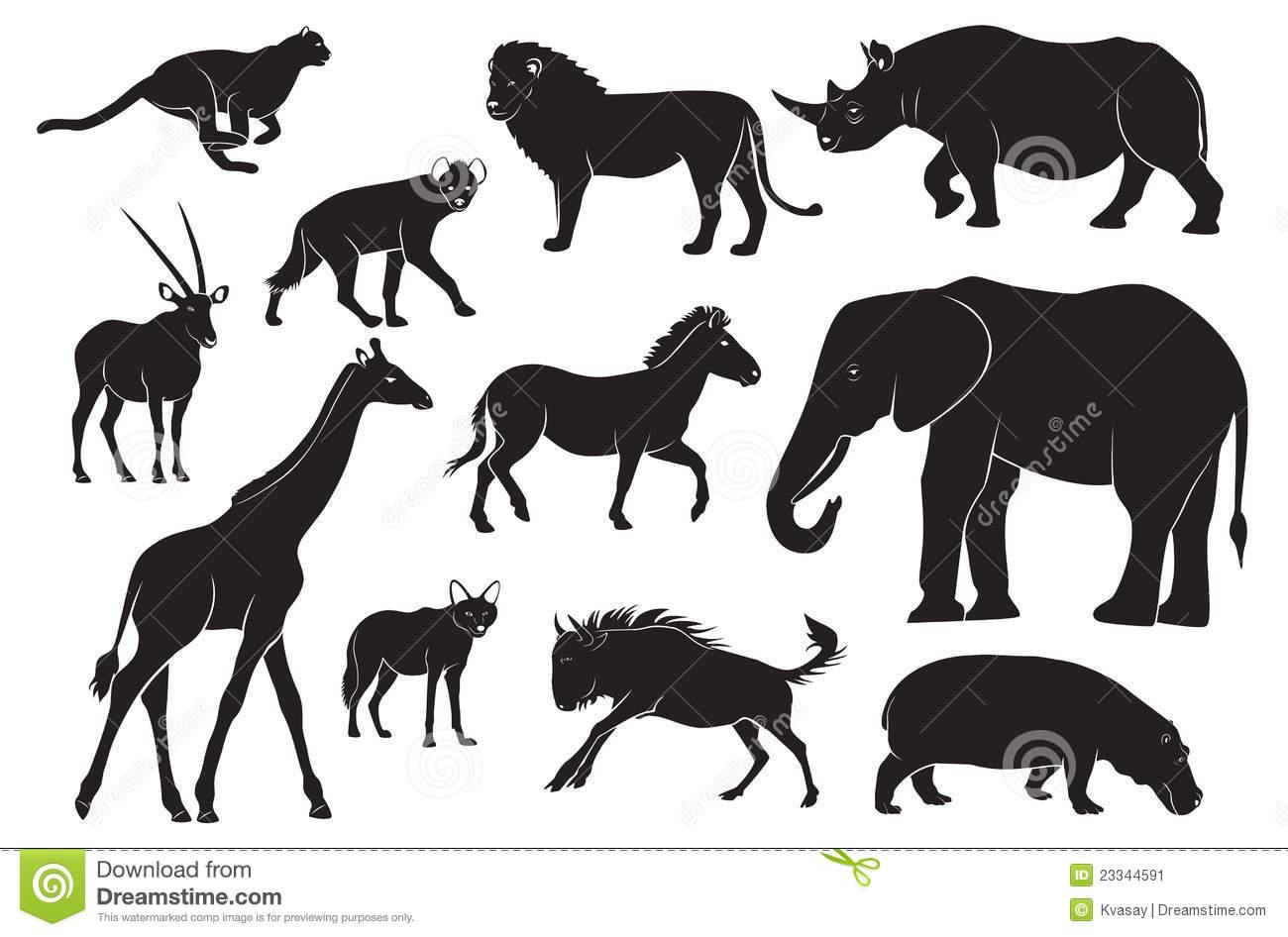 Animaux De L'afrique Illustration De Vecteur. Illustration intérieur Les Animaux De L Afrique