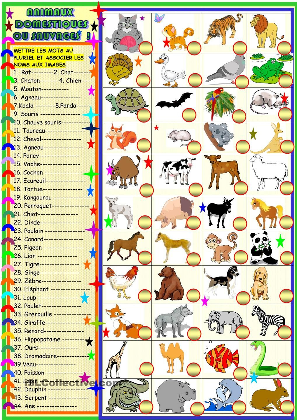 Animaux Domestiques Ou Sauvages | Animaux Domestiques encequiconcerne Les Animaux Domestiques En Maternelle