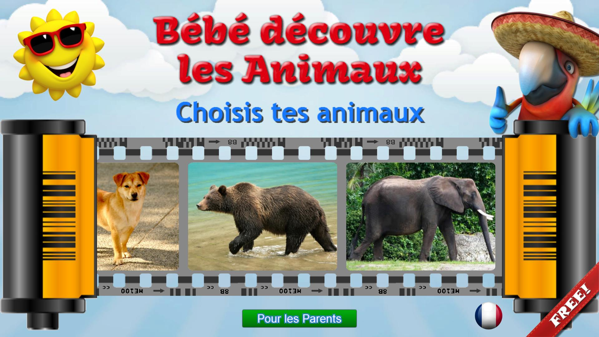 Animaux Pour Les Enfants, Jeux Bébé Gratuit Pour Android destiné Jeux D Animaux Gratuit
