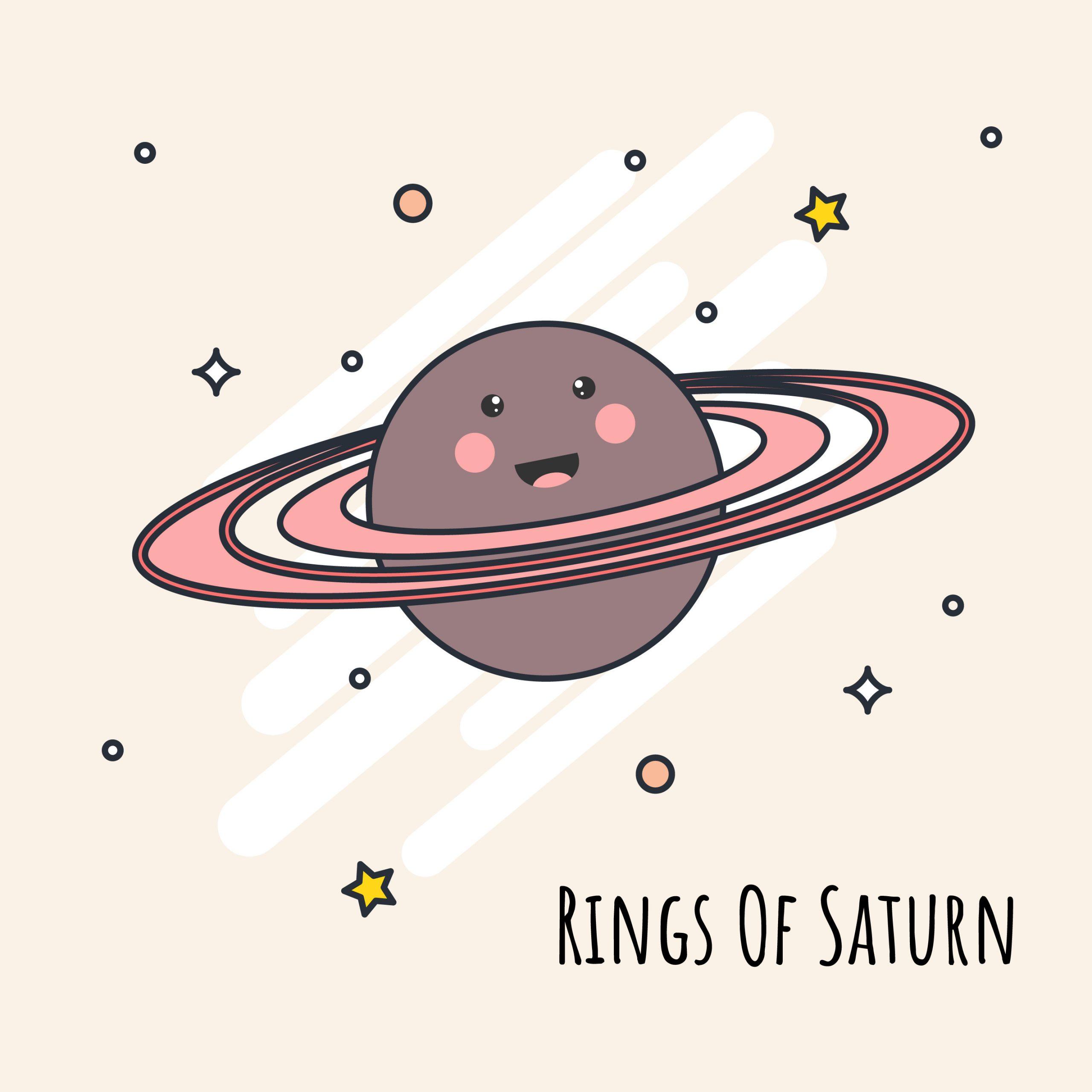 Anneaux De Vecteur De Saturne - Telecharger Vectoriel destiné Saturne Dessin