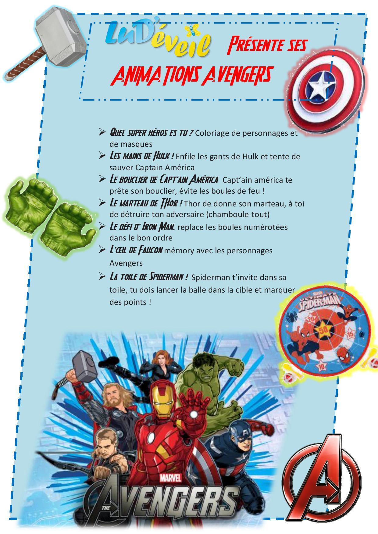 Anniversaire Avengers Marvel - Lud'éveil à Jeux Bébé 2 Ans Gratuit A Telecharger