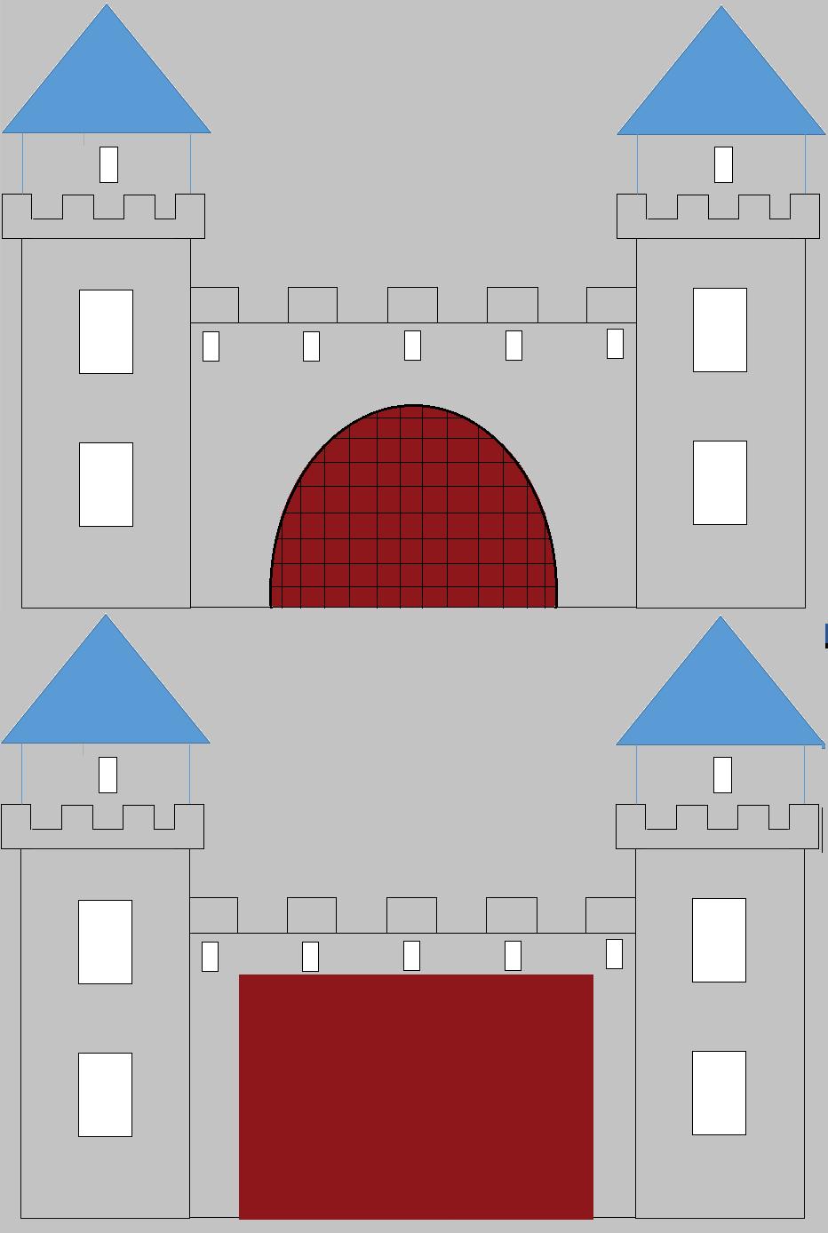 Anniversaire Chevalier: Les Invitations Château Fort (Tuto avec Image De Chateau Fort A Imprimer