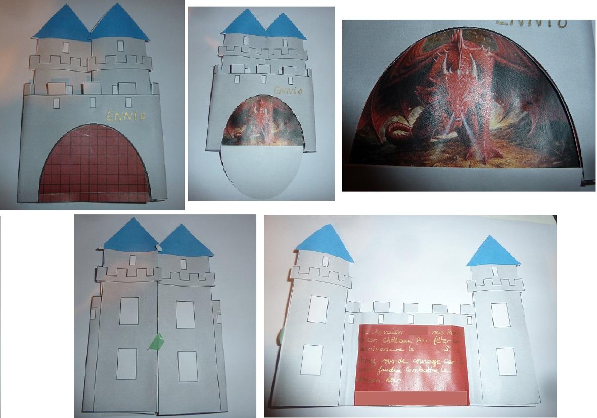 Anniversaire Chevalier: Les Invitations Château Fort (Tuto destiné Image De Chateau Fort A Imprimer