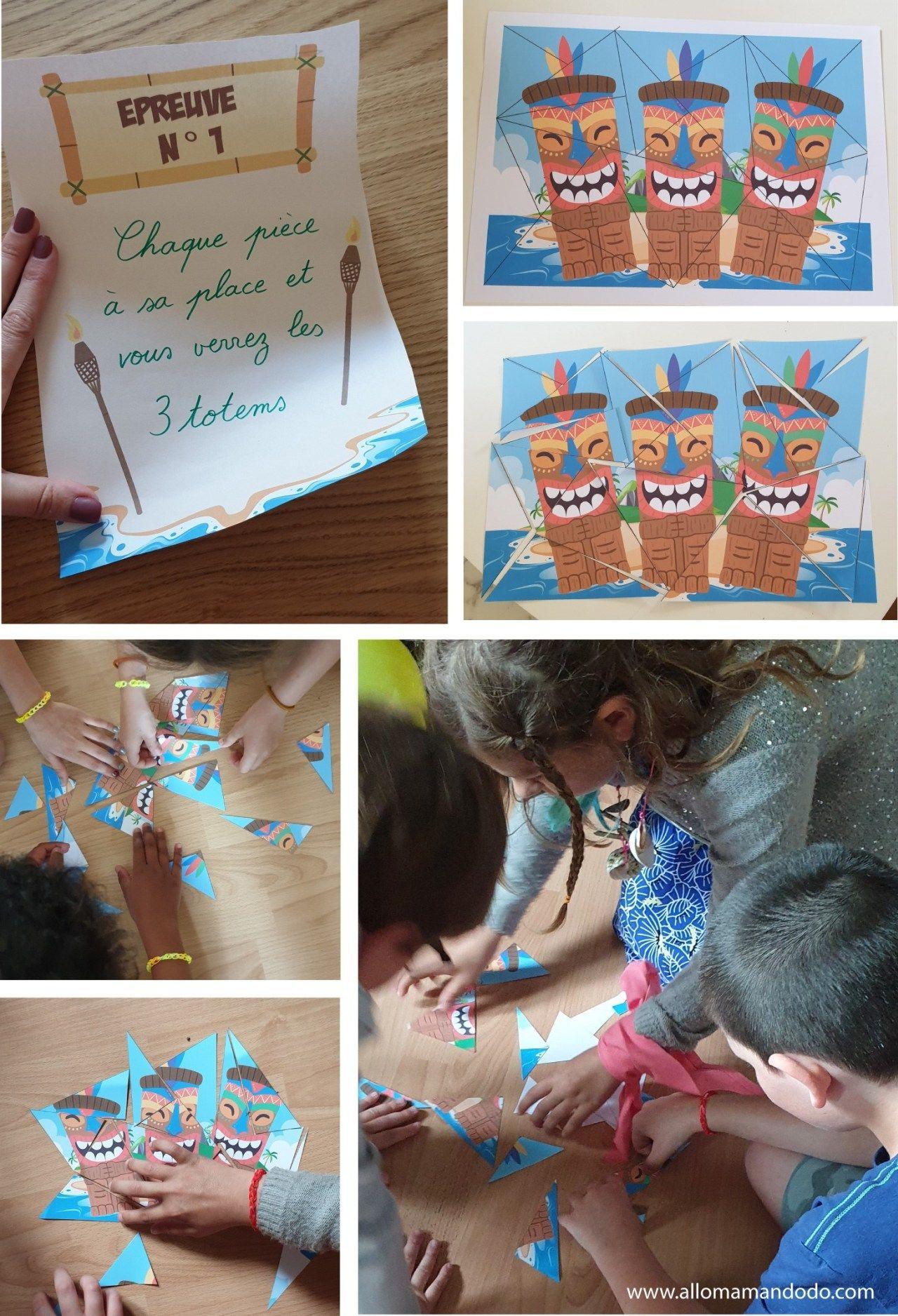 Anniversaire Koh Lanta : Les Activités! (Gratuit: Les Fiches dedans Puzzle Gratuit Enfant