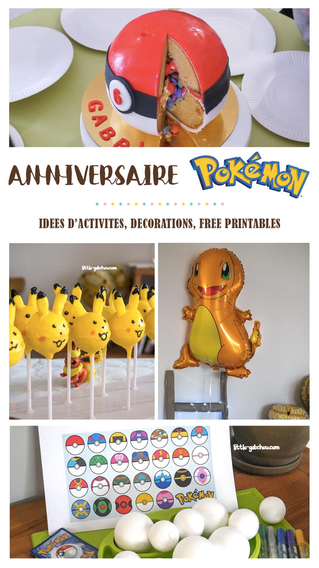 Anniversaire Sur Le Thème De Pokemon Pour Les 6 Ans De Gab pour Jeux Gratuit Garçon 6 Ans