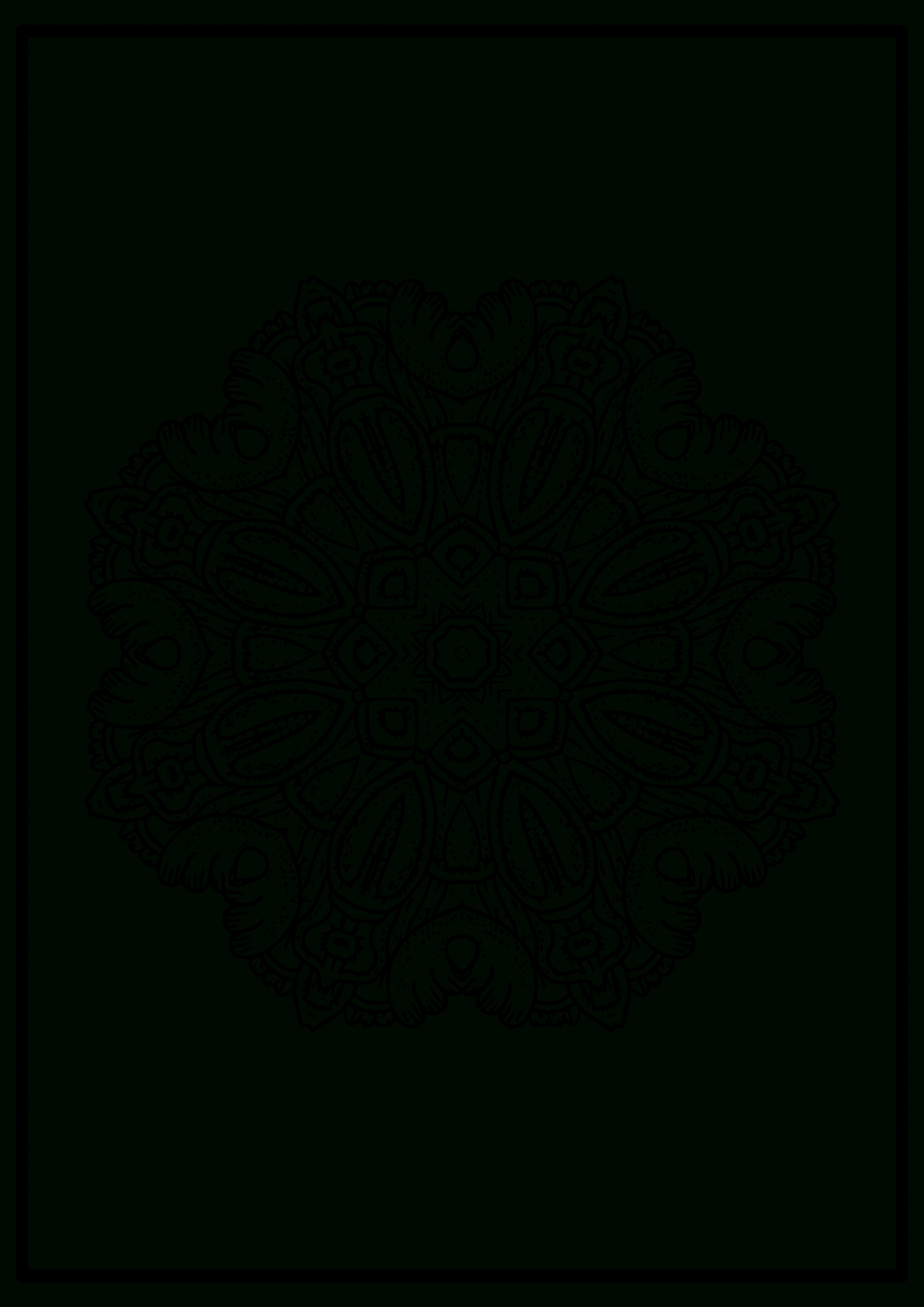 Another Free Easy Mandala Picture To Color | By Inkmandala intérieur Mandala Fée