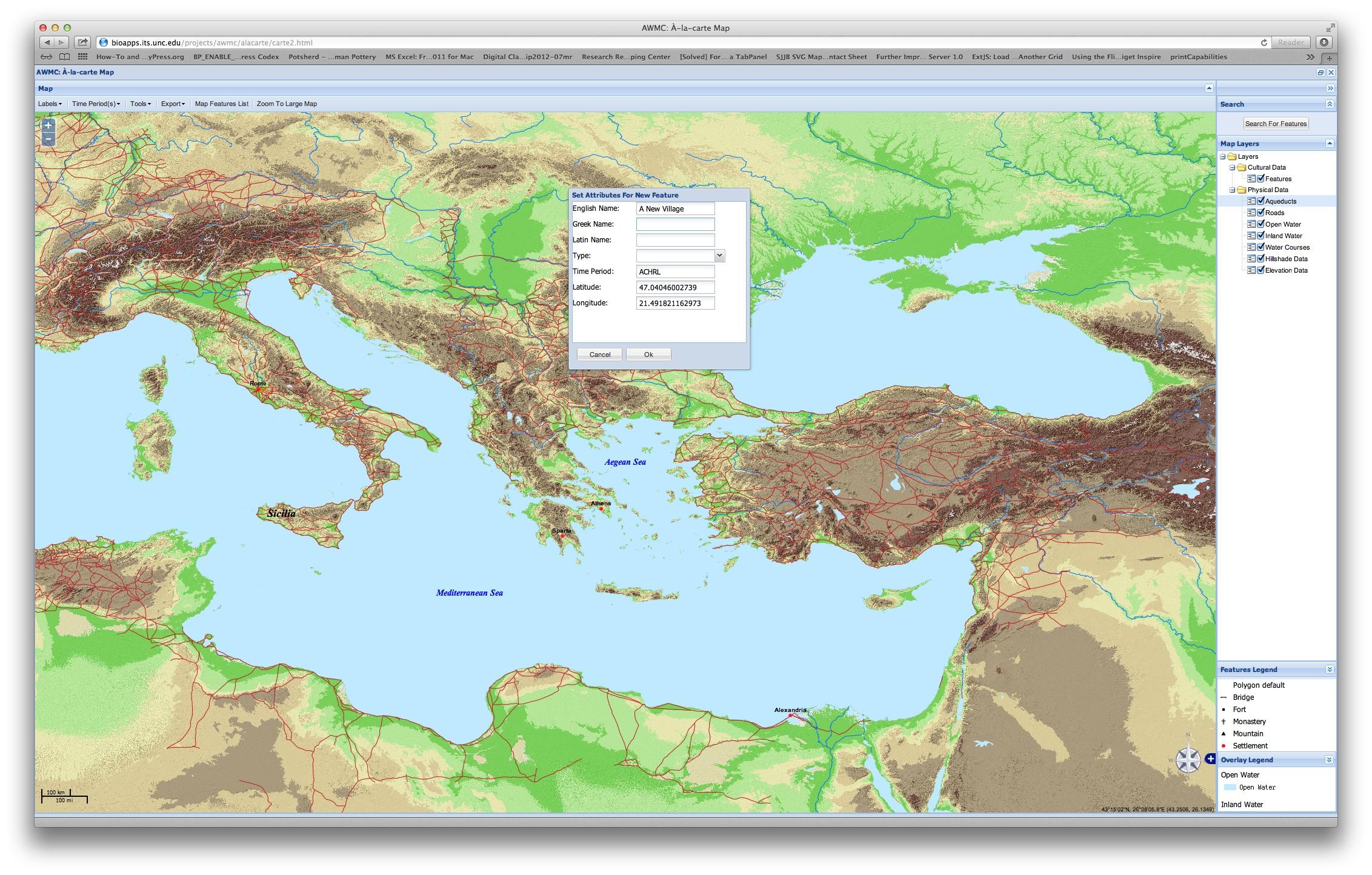 Antiquity À-La-Carte avec Carte De Fra