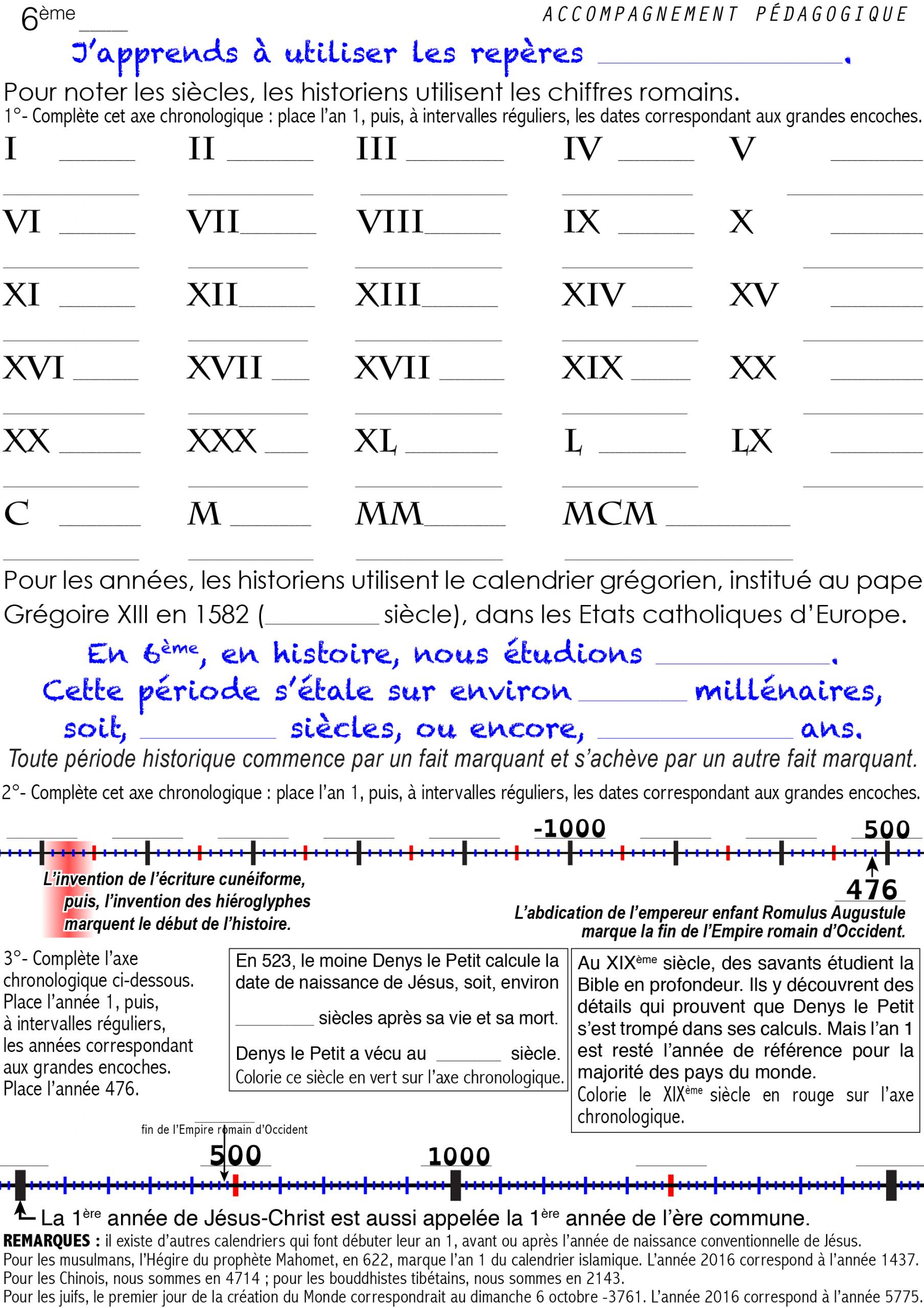 Ap-04-Fw-J'apprends À Utiliser Les Chiffres Romains encequiconcerne Exercice Chiffre Romain