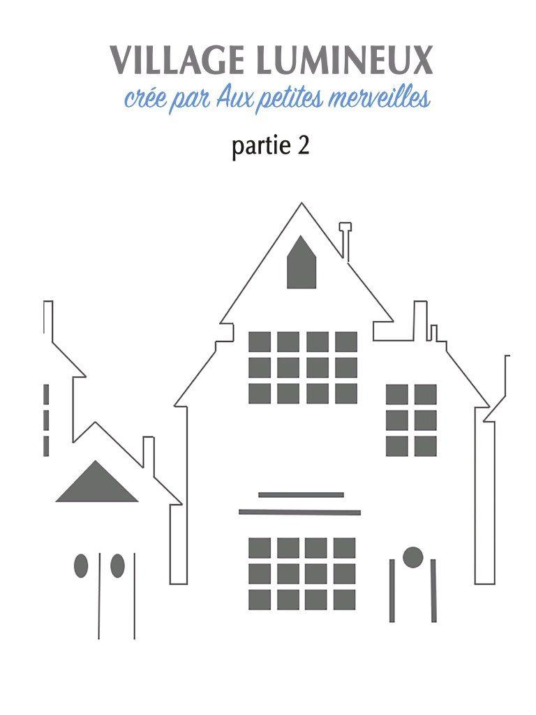 Aperçu Du Fichier Villagelumineux.pdf | Décor De Noël tout Patron De Maison En Papier A Imprimer