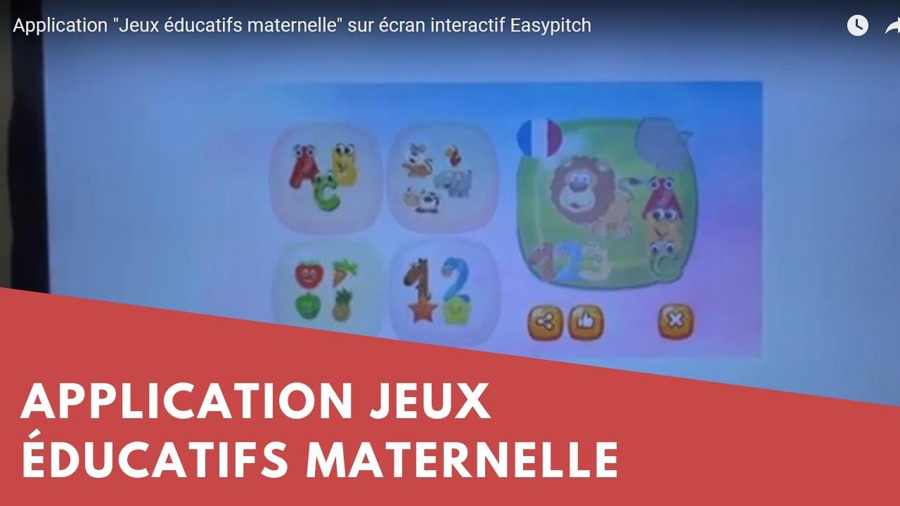 """Application """"jeux Éducatifs Maternelle"""" Sur Écran Interactif Easypitch pour Jeux Didactiques Maternelle"""