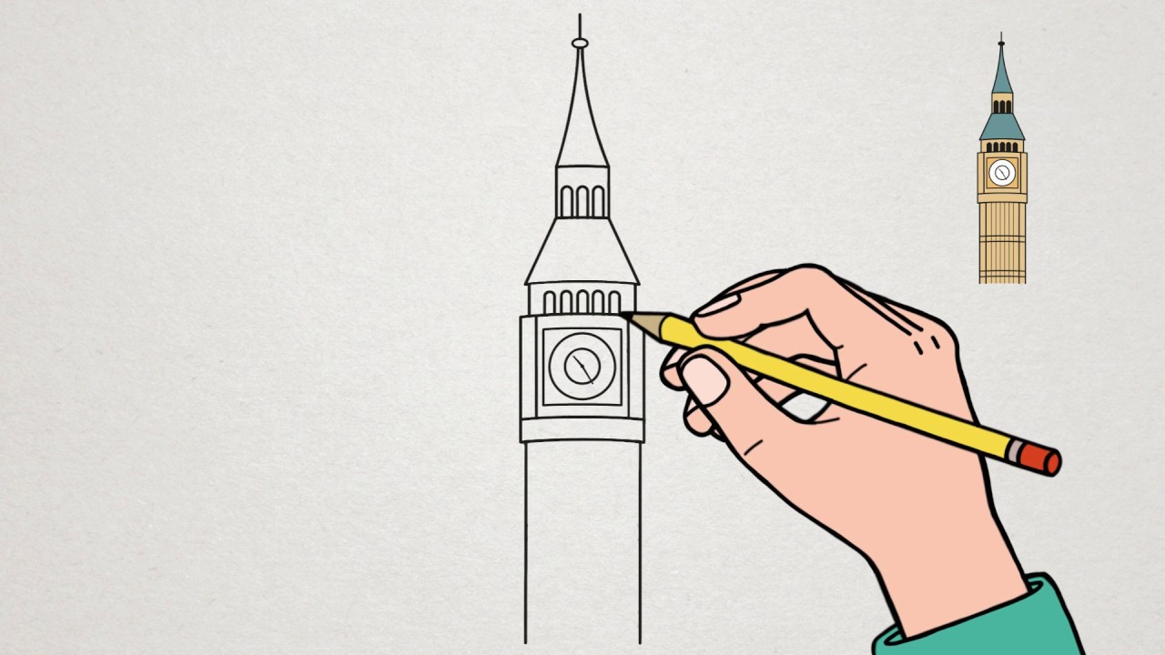 Apprendre À Dessiner - Big Ben concernant Dessin De Angleterre
