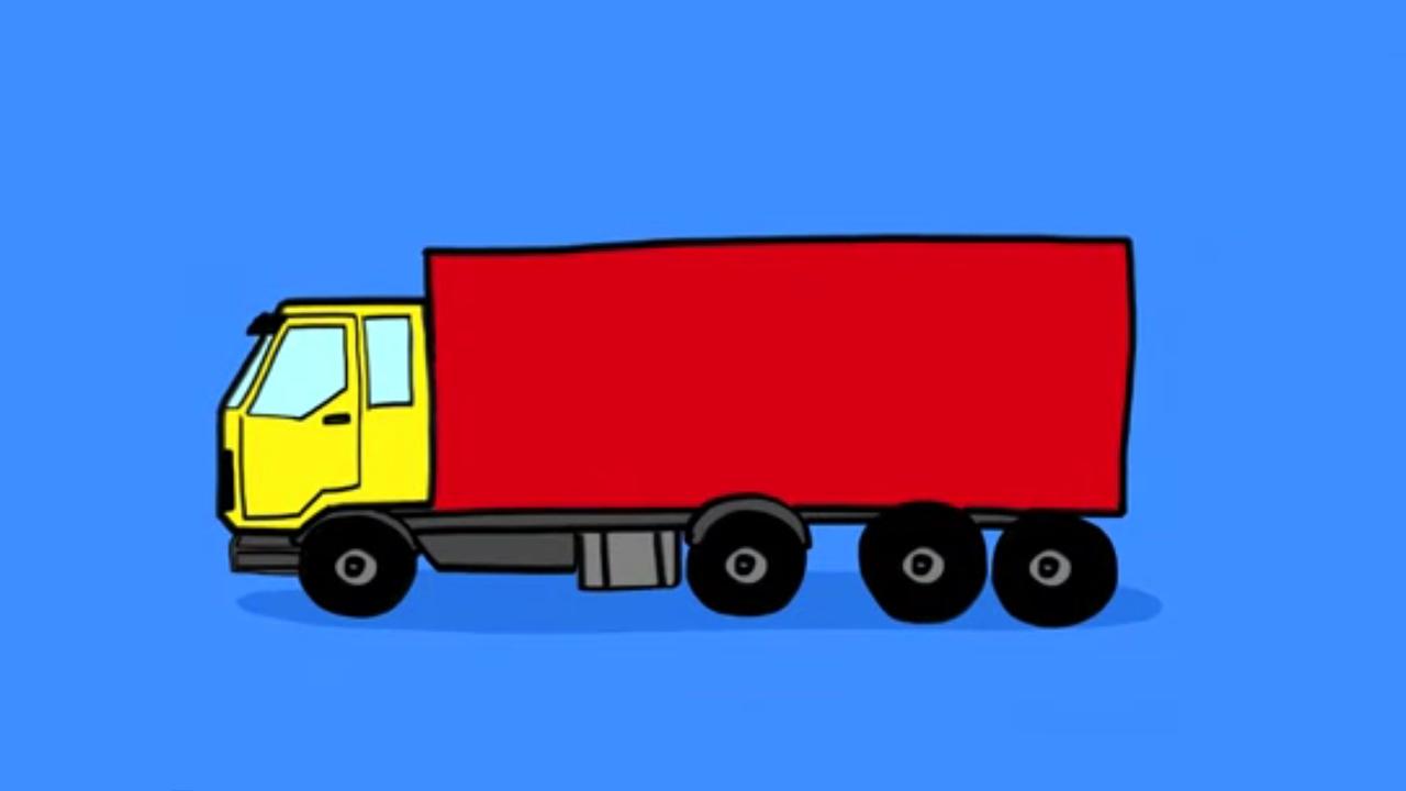 Apprendre À Dessiner Camion destiné Dessin D Un Camion