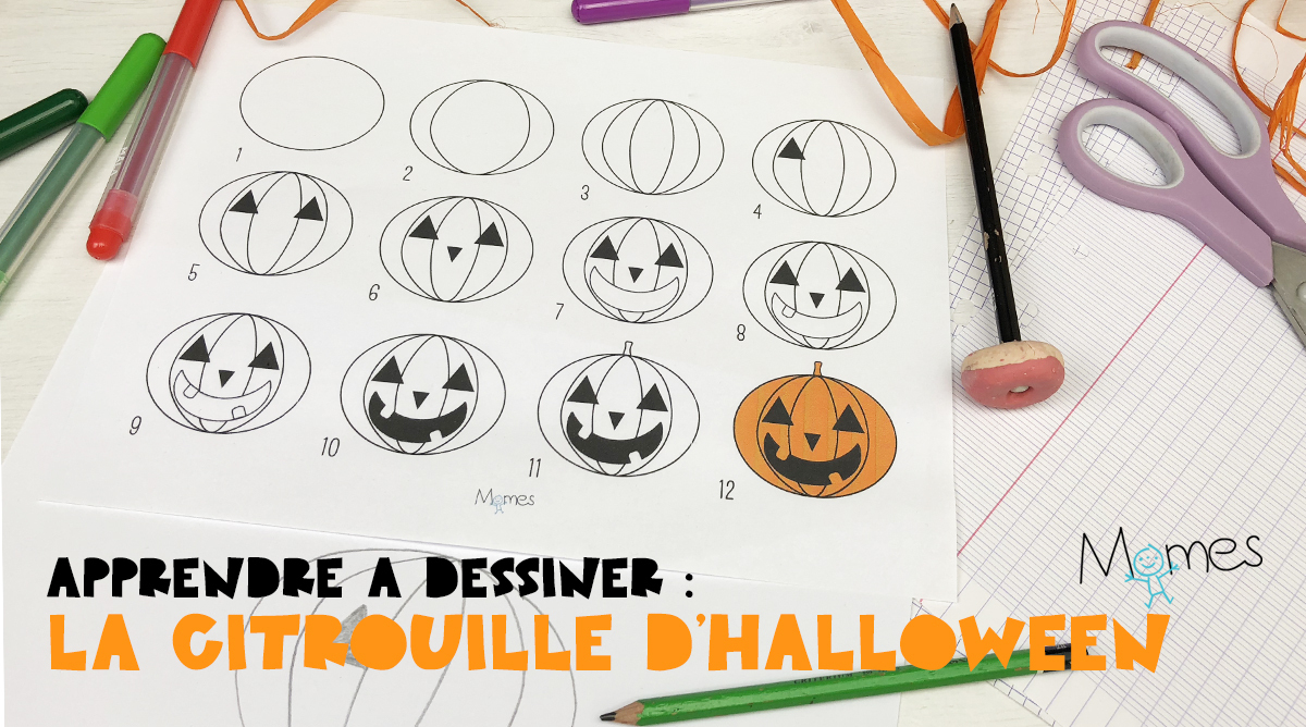 Apprendre À Dessiner : La Citrouille D'halloween - Momes serapportantà Dessin D Halloween Facile A Dessiner