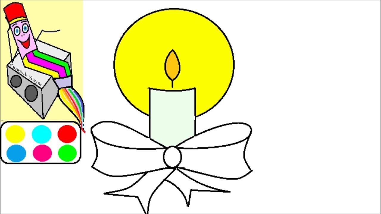 Apprendre À Dessiner Noël : Dessin D'Une Bougie destiné Dessin Sur Bougie