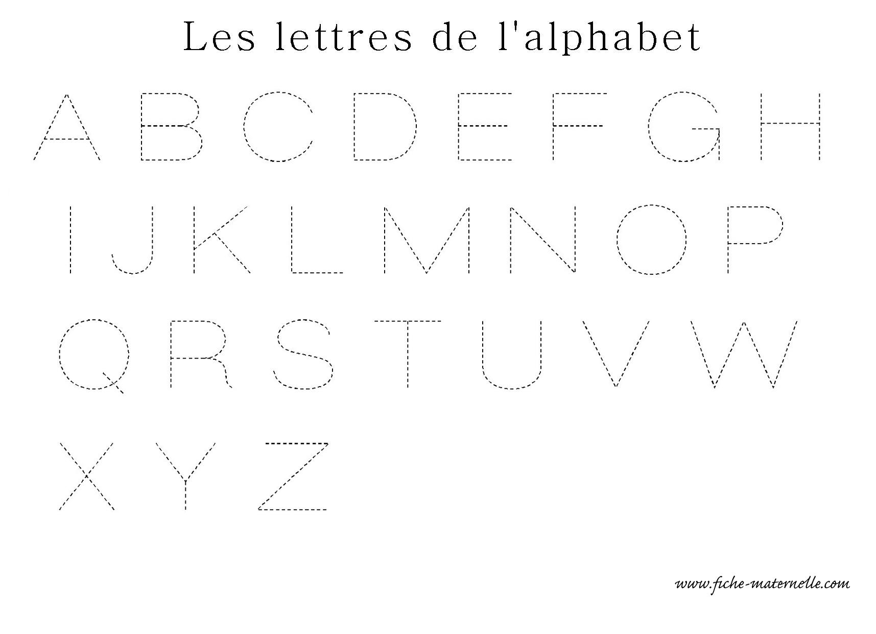 Apprendre A Ecrire Les Lettres De L Alphabet En Ecriture concernant Alphabet En Pointillé A Imprimer