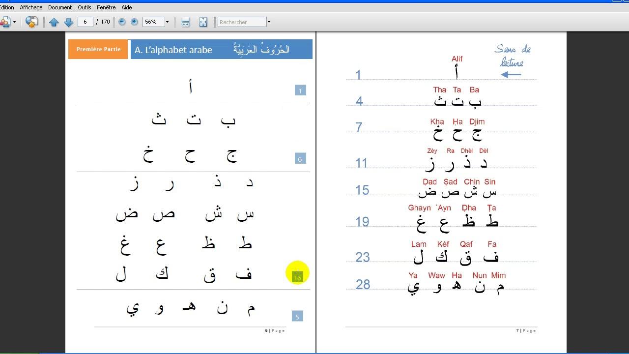 Apprendre À Lire L'arabe En 10 Leçons | Cours 1 | L'alphabet Arabe serapportantà Apprendre A Ecrire Gratuit