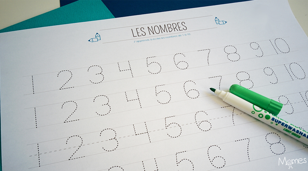 Apprendre À Tracer Les Nombres - Momes encequiconcerne Apprendre A Ecrire Les Chiffres