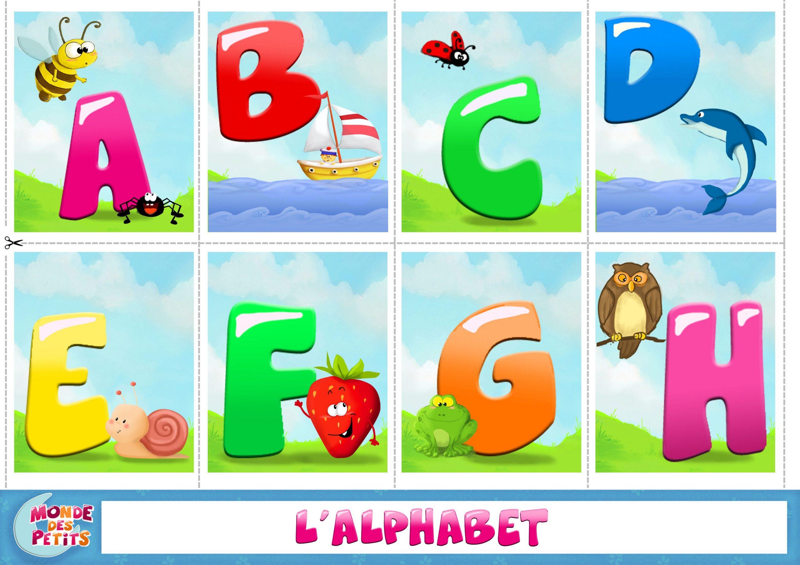 Apprendre-Alphabet-A (3508×2480)   Apprendre L'alphabet serapportantà Jeux De Lettres Enfants