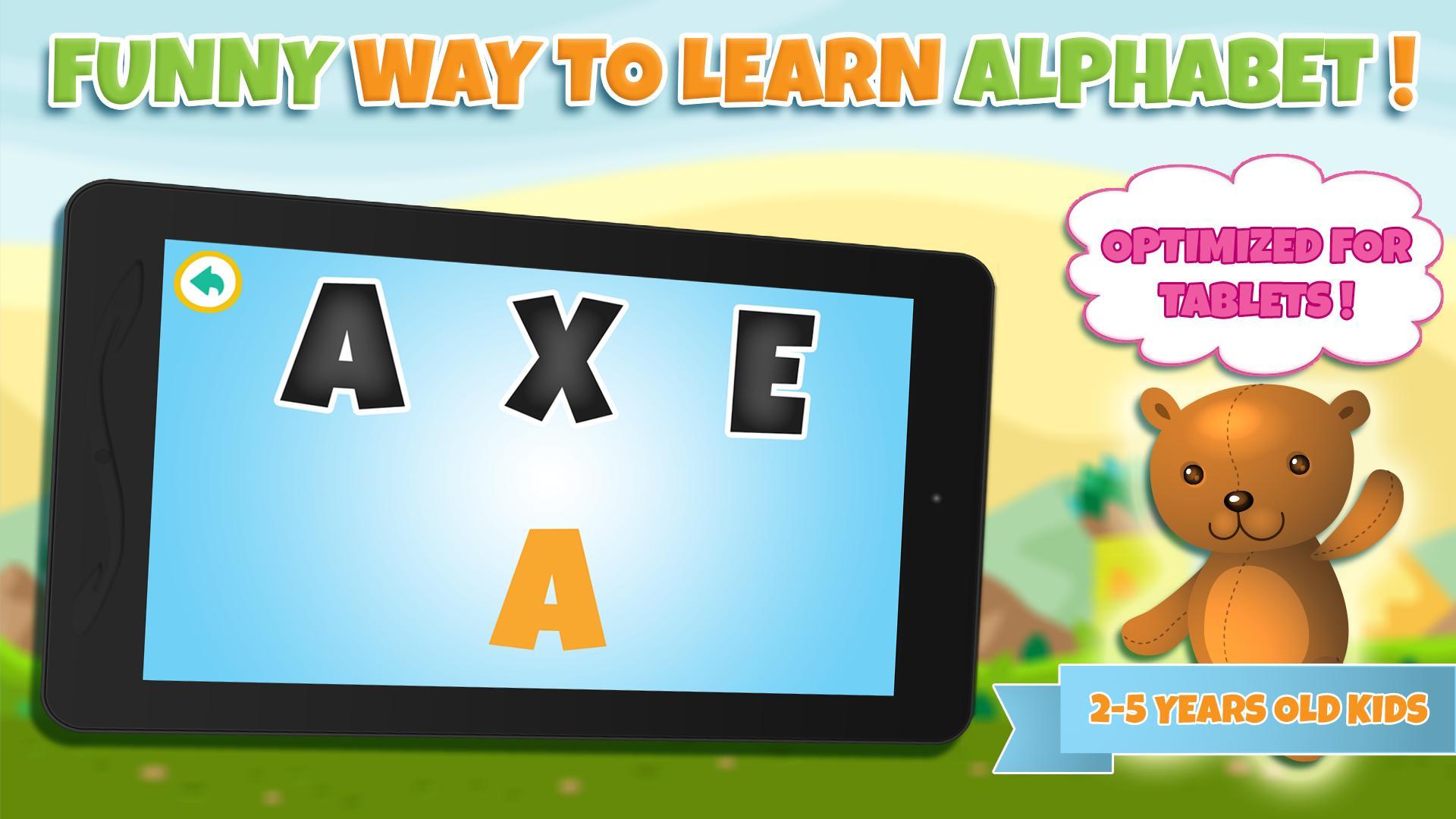 Apprendre Alphabet Jeux Enfant Pour Android - Téléchargez L'apk intérieur Jeux Pour Apprendre L Alphabet