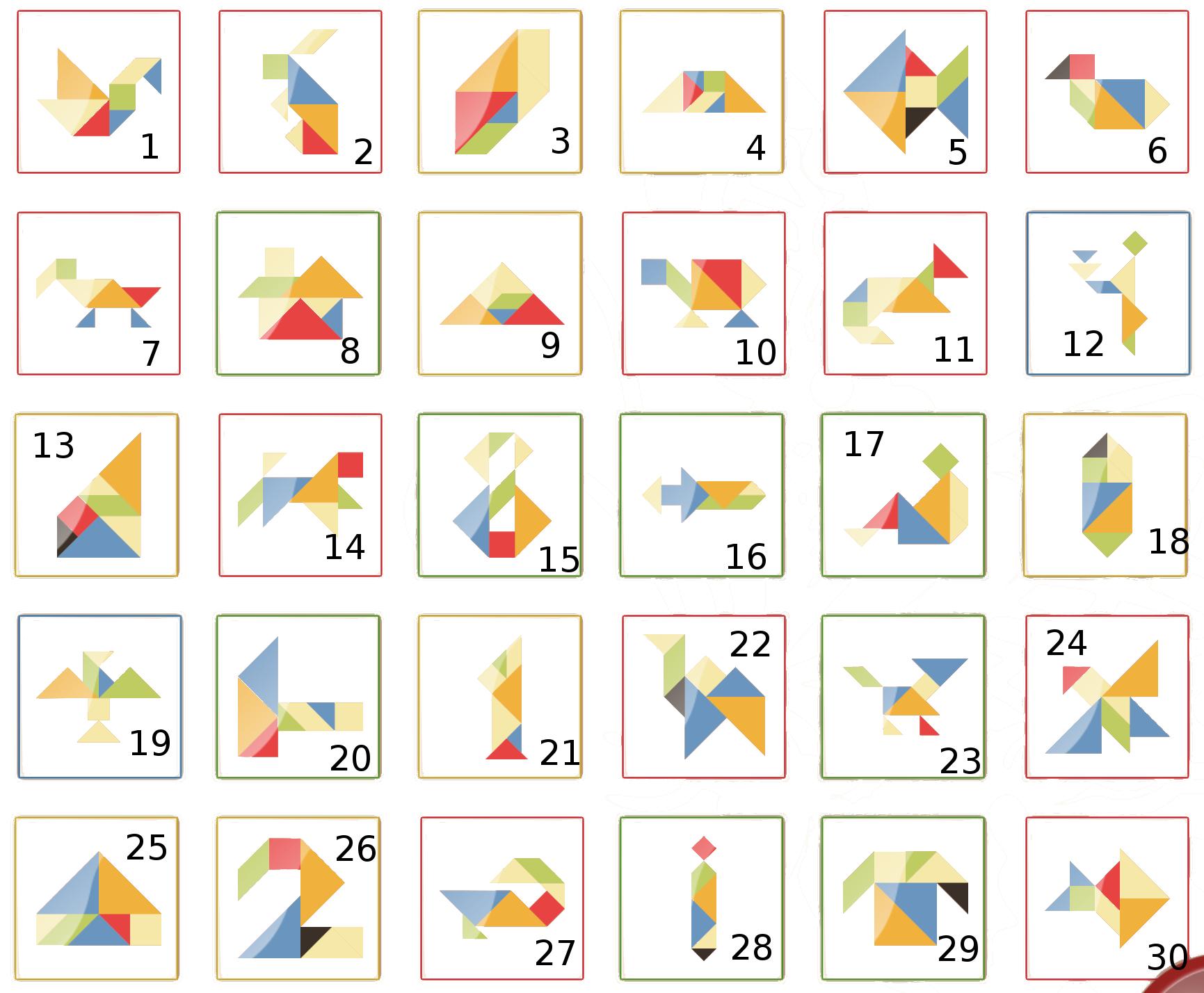 Apprendre Avec Maman: Tangram concernant Tangram Modèles Et Solutions