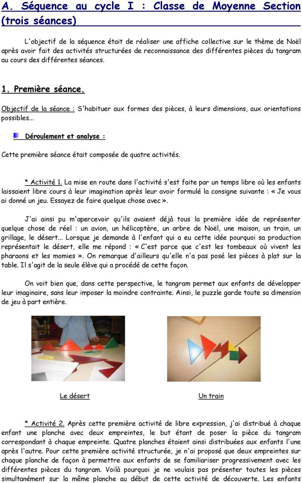 Apprendre En Jouant Grâce Au Tangram - Pdf Free Download tout Tangram Moyenne Section