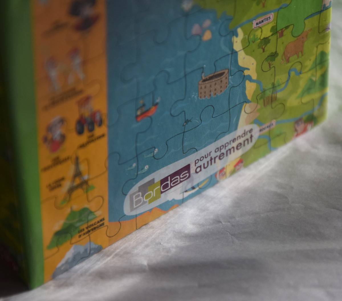 Apprendre La Géographie De La France Avec Le Puzzle Bordas tout Apprendre Les Départements En S Amusant