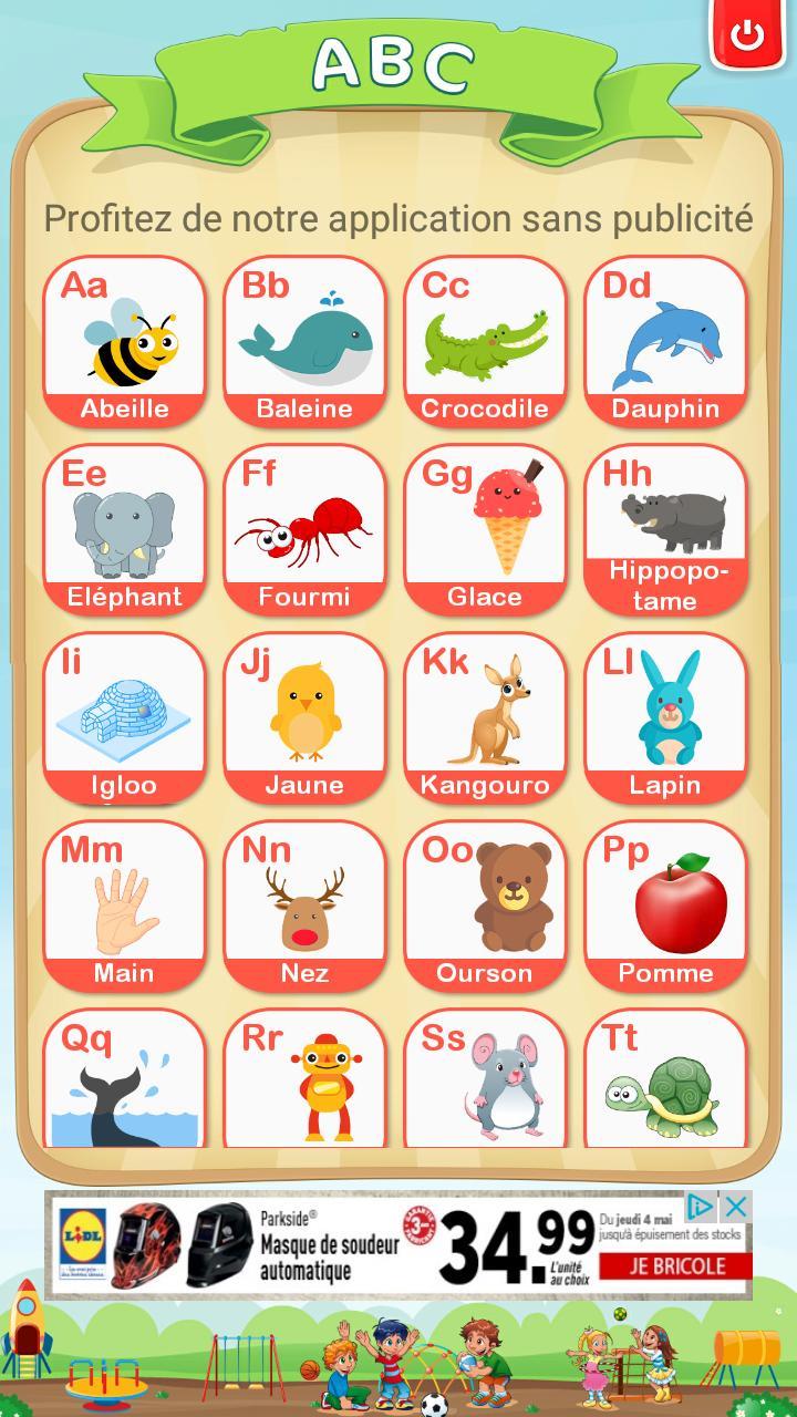 Apprendre L'alphabet Et Chiffres Français Gratuit Pour pour Apprendre Alphabet Francais