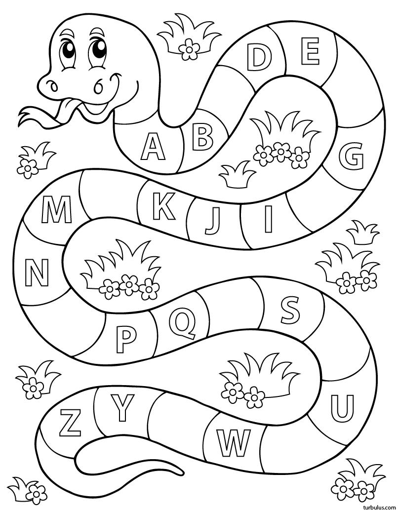 Apprendre L'alphabet ; Exercice Ludique (1) - Turbulus, Jeux pour Exercices Maternelle A Imprimer Gratuit