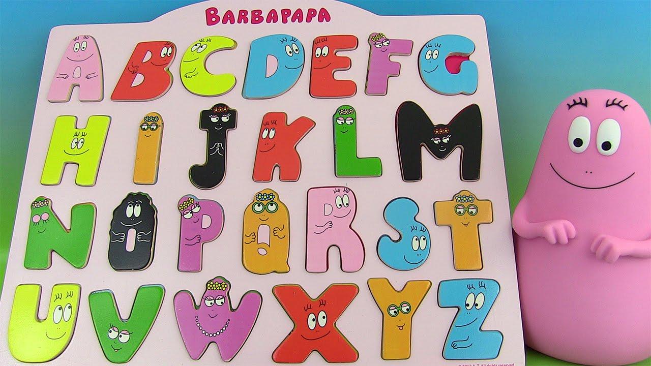 Apprendre L'alphabet Français Avec Barbapapa Jouet D'encastrement Learn  French Abcs intérieur Jeux Pour Apprendre L Alphabet