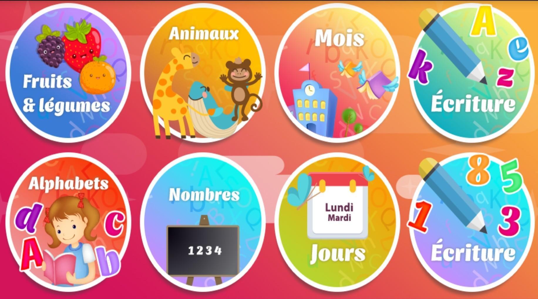 Apprendre Le Français Pour Les Enfants Niveau 1 For Android serapportantà Apprendre Alphabet Francais
