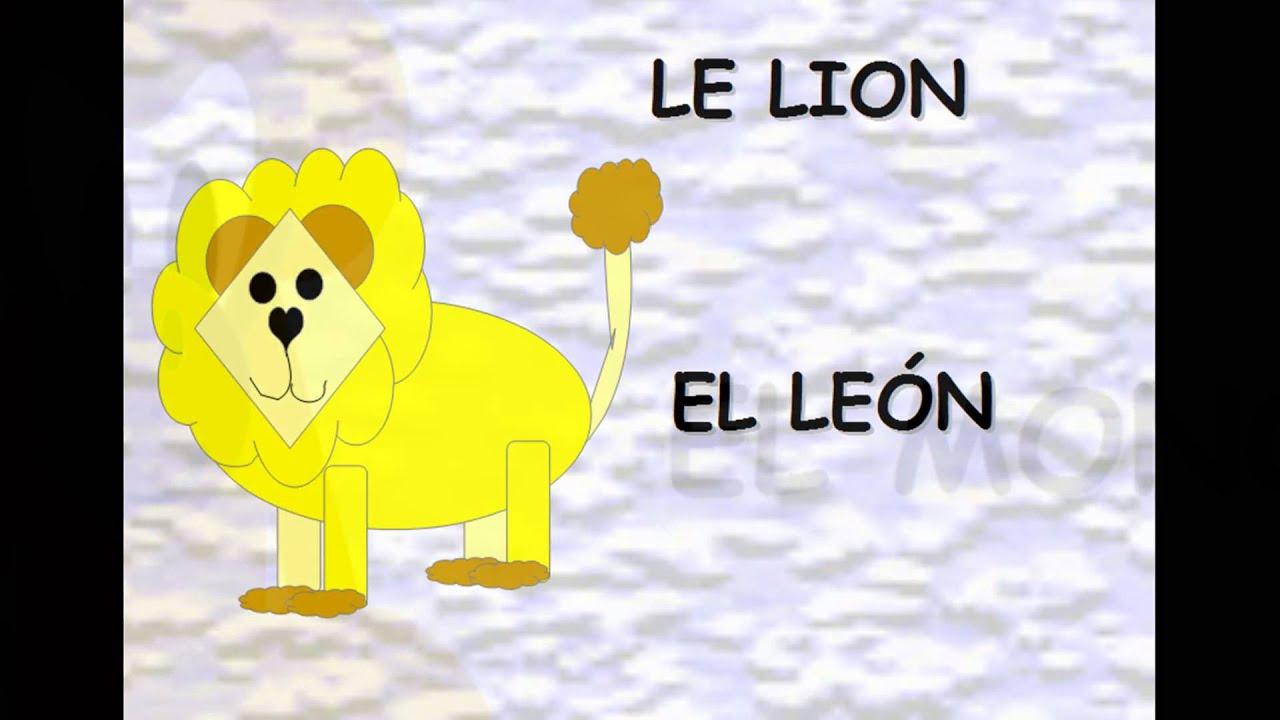 Apprendre Le Nom Des Animaux En Espagnol, Los Animales concernant Apprendre Le Nom Des Animaux