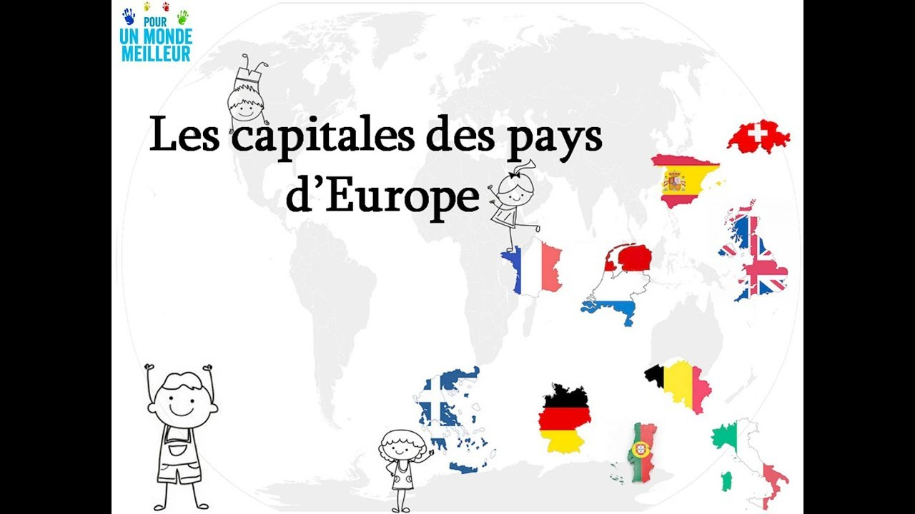 Apprendre Les Capitales Des Pays D'europe - 1 - dedans Pays Et Capitales D Europe