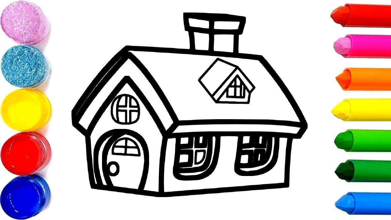 Apprendre Les Couleurs Dessiner Et Colorier Une Maison Pour Enfants &  Planète Coloriage encequiconcerne Dessin Pour Enfant À Colorier